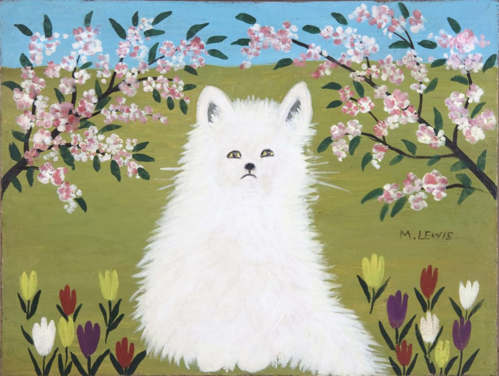 Maud Lewis White Cat